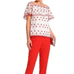 Alexis off the shoulder blouse XS dress top shirt